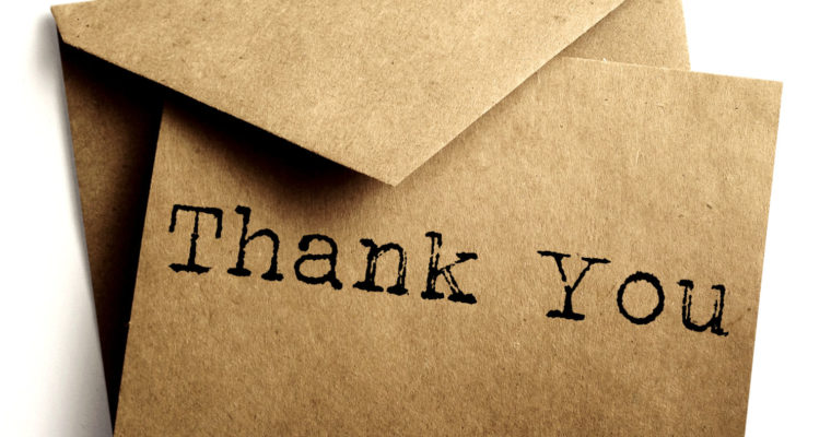 When a Thank You Note Means More
